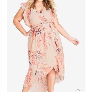 City Chic Sweet Delilah Maxi dress size xxl/24